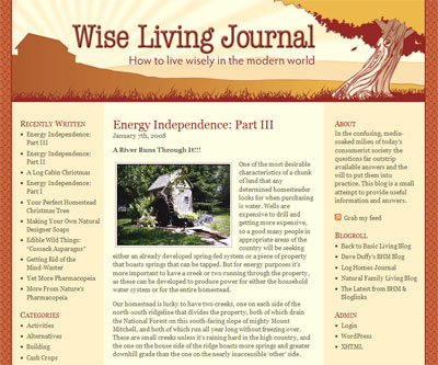 wise living journal